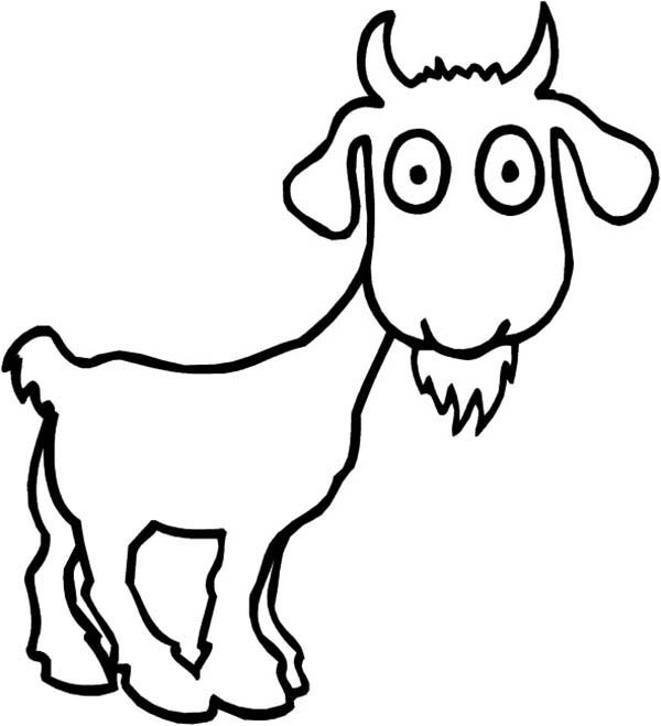600x659 Free Cute Goat Coloring Pages