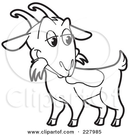 450x470 Nubian Goat Clipart