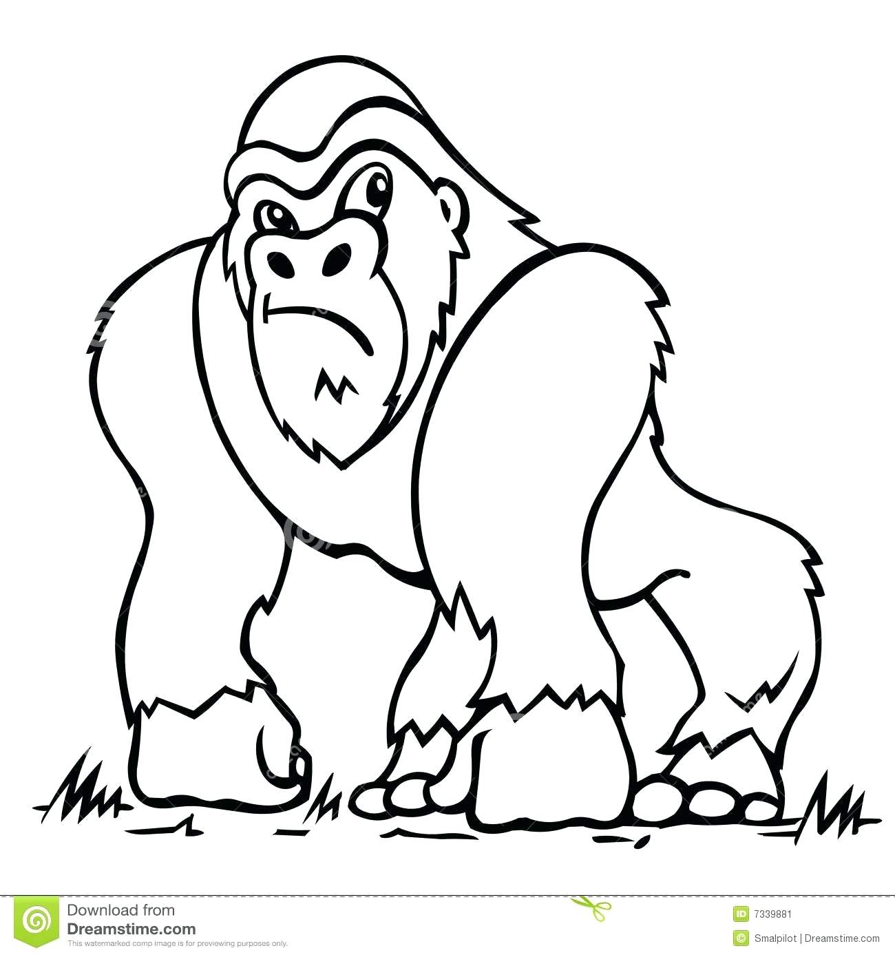 1300x1390 Coloring Gorilla Coloring Pages Click The Good Night Cute