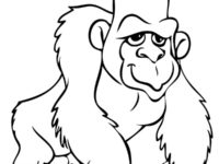 200x150 Coloring Page Gorilla Best Of Wonderful Gorilla Coloring Pages 25
