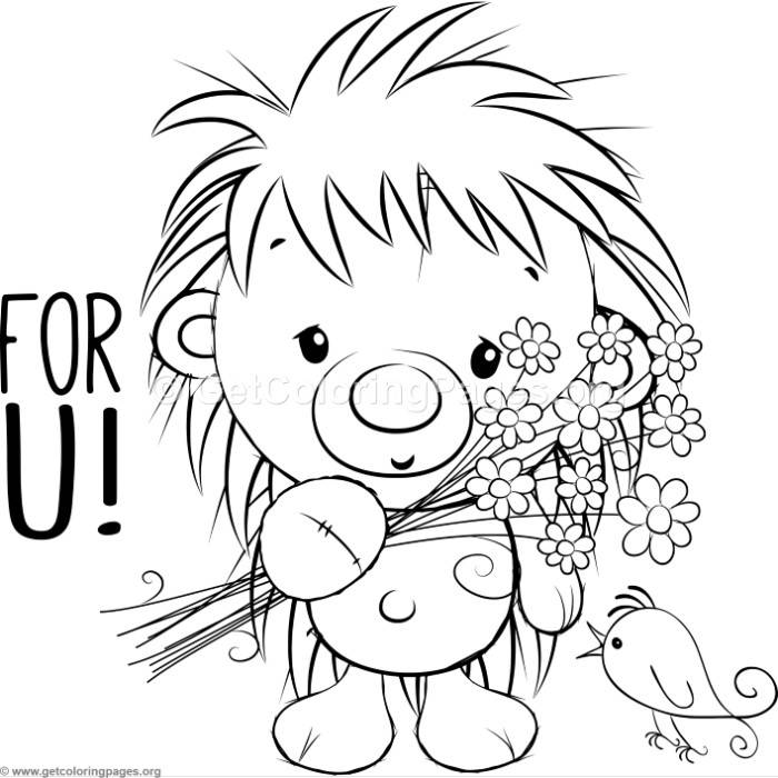 700x700 Cute Hedgehog 6 Coloring Pages