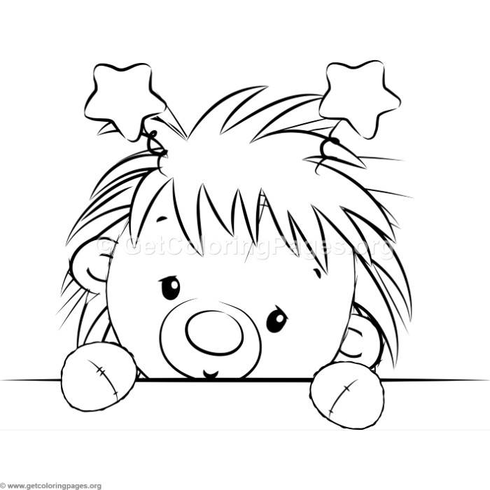 700x700 Cute Hedgehog 9 Coloring Pages