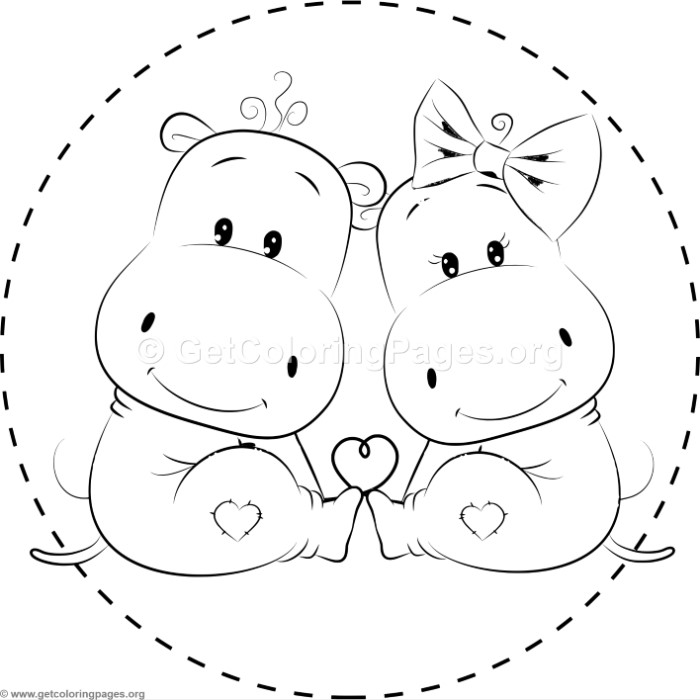 Cute Hippo Drawing at GetDrawings.com | Free for personal use Cute ...