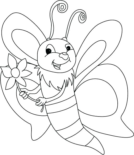 558x648 Beautiful Bee Coloring Page Best Of Bees Pages Honeybee Cute As