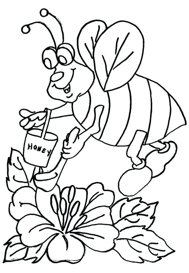 618x893 Bee Coloring Page Bumble Bee Coloring Page Cute Bumble Bee
