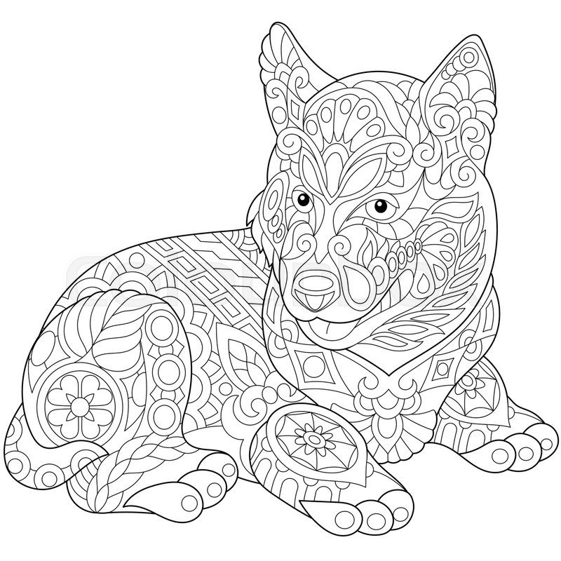 Cute Husky Drawing at GetDrawings.com   Free for personal use Cute ...
