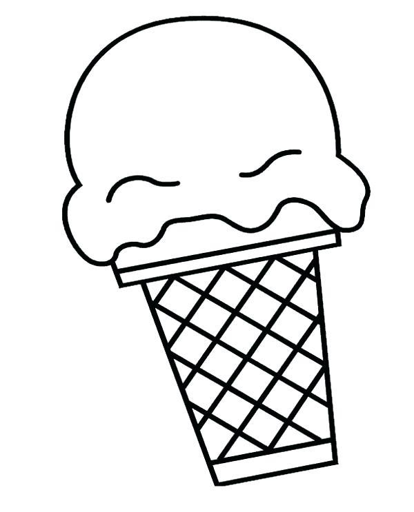600x743 Ice Cream Cone Coloring Book Plus Big Ice Cream Scoop Coloring