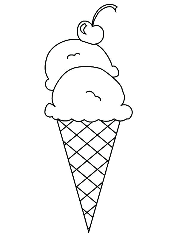 600x796 Best Of Ice Cream Coloring Pages Pictures Double Scoop Ice Cream