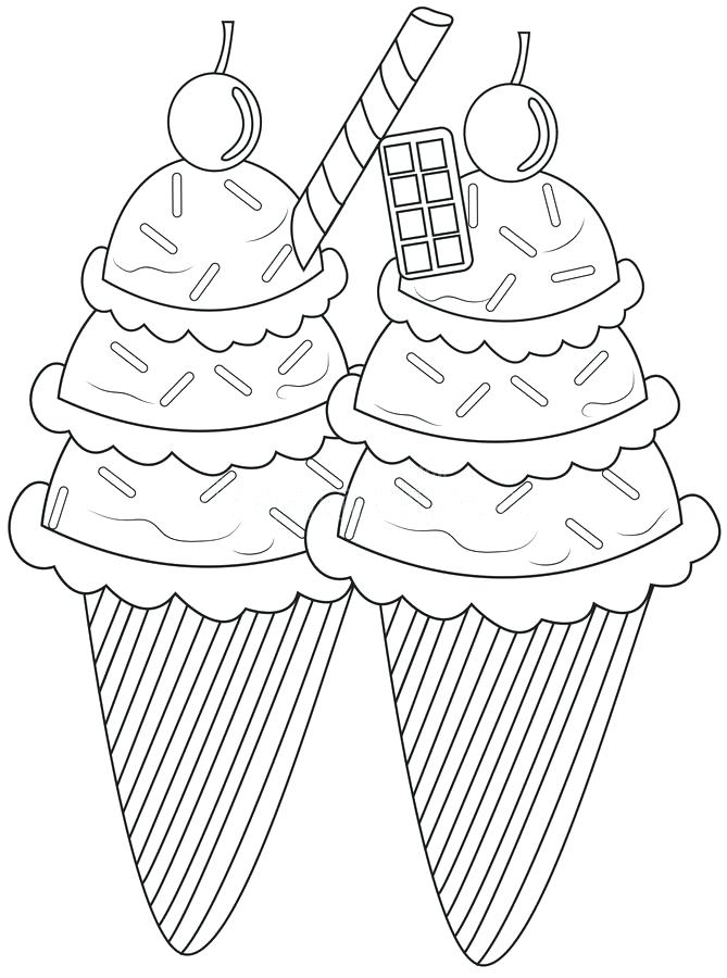The Sipping Ice Cream Soda Sundae Coloring Pages From