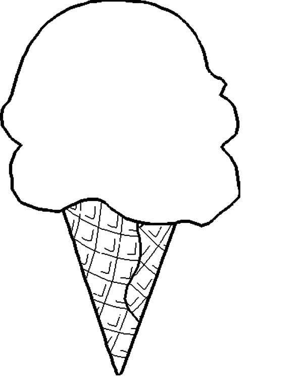 Cute Ice Cream Cone Drawing at