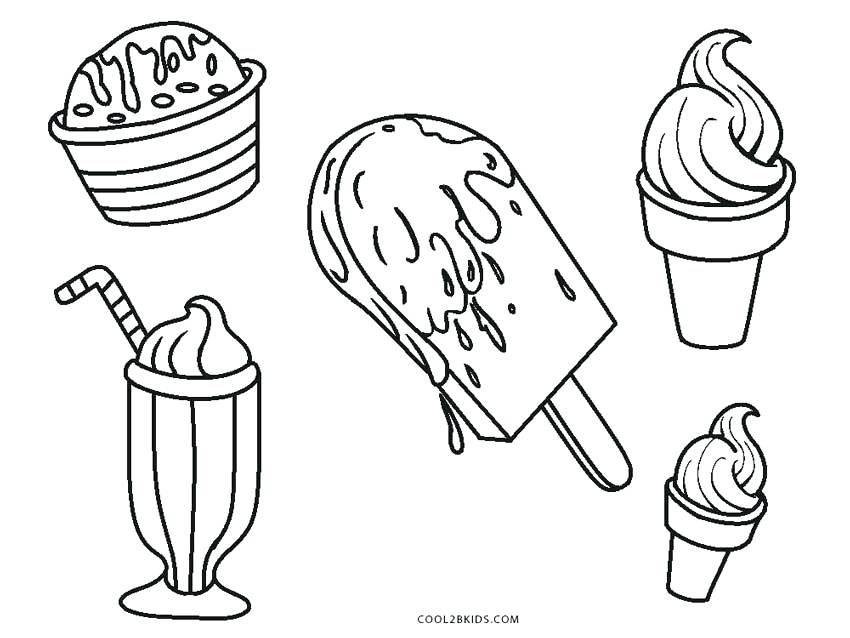 850x638 Perfect Coloring Pages Ice Cream Print Best Ideas On Cute