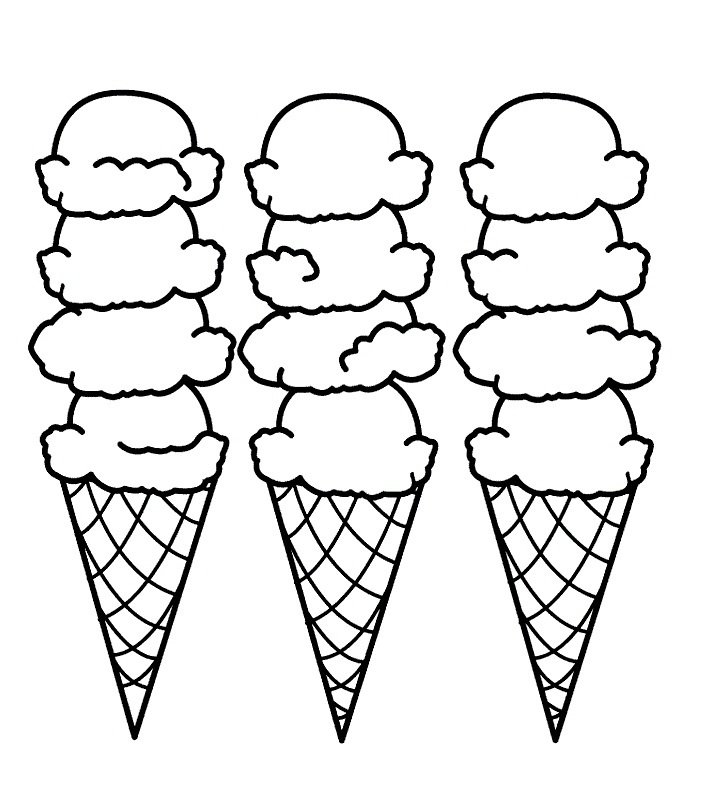 712x792 Coloring Pages Cute Ice Cream