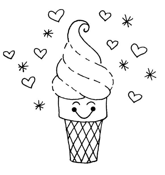Cute Ice Cream Cone Drawing at GetDrawings.com | Free for personal ...