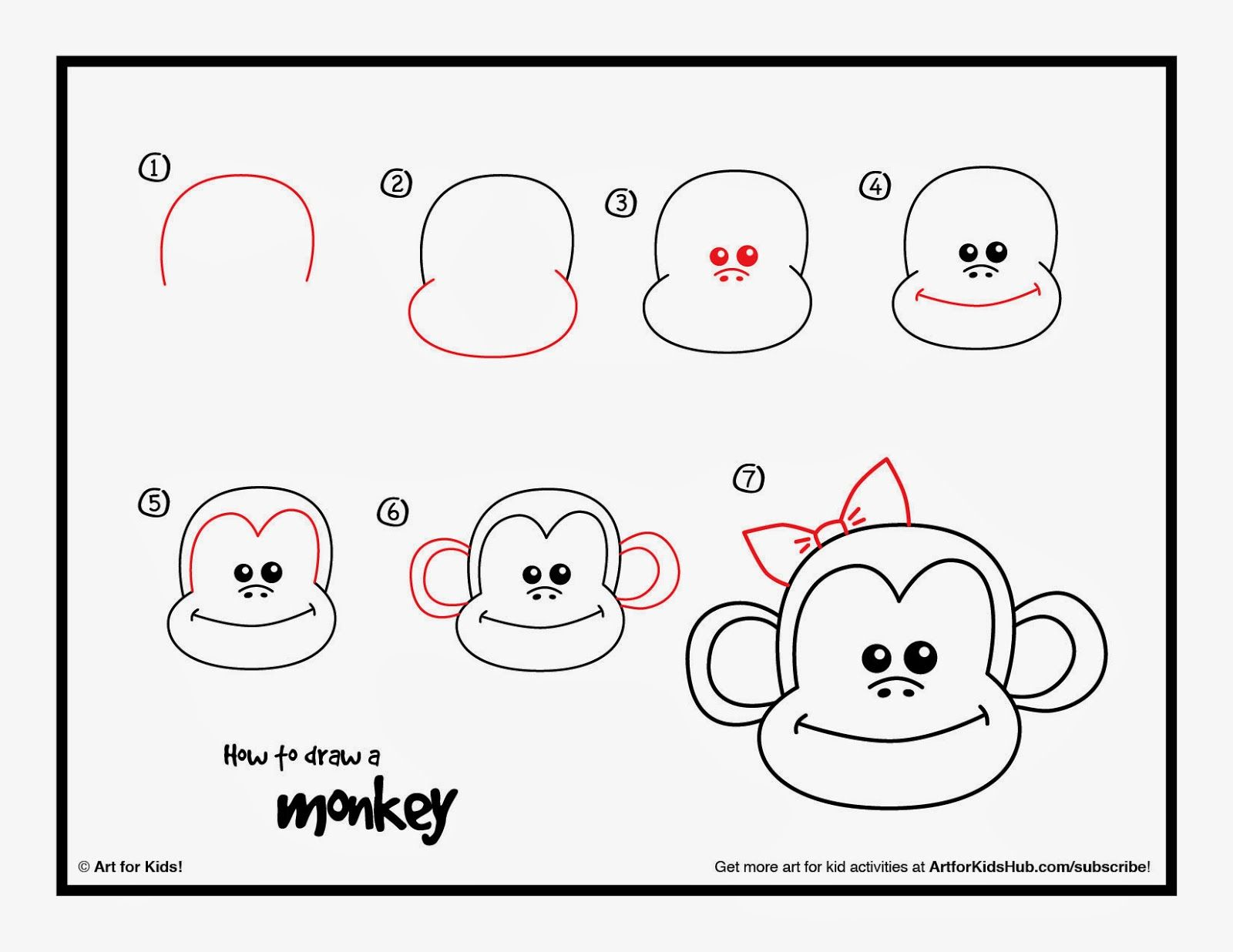 1600x1236 This Monkey Directed Draw Was So Cute For Our Chinese New Year