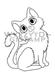 236x334 Cute Kitten Tangled In Christmas Lights Digistamp, Instant