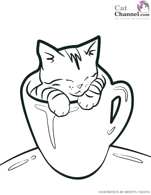 600x776 Printable Kitten Coloring Pages Puppy And Kitten Coloring Pages