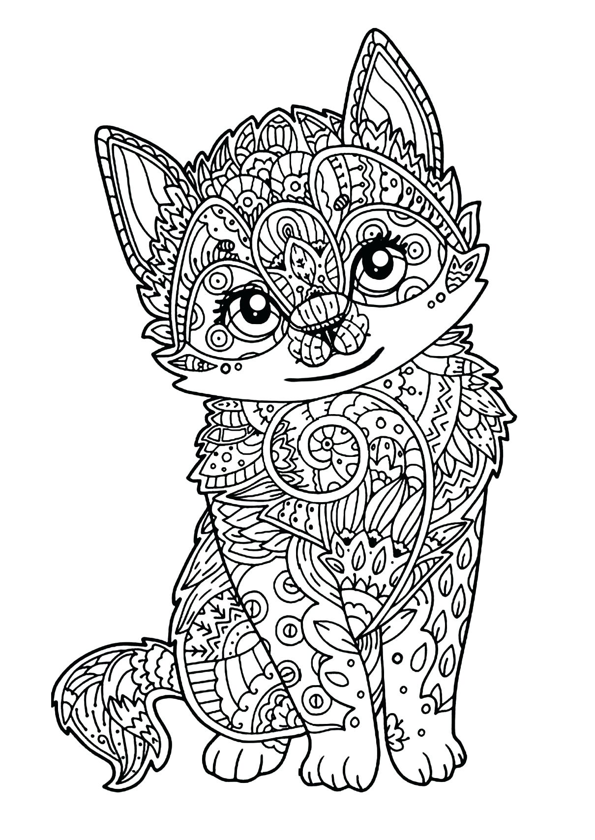 1210x1708 Coloring Tabby Cat Coloring Pages Drawing Kitty Cute Easy