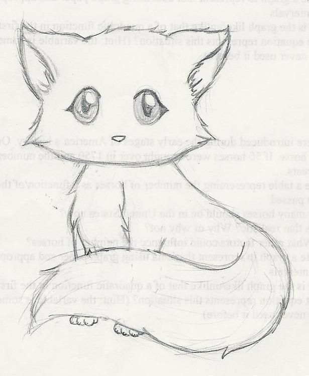 615x750 This Is A More Detailed Drawing Of A Kitten In The Gallery Im