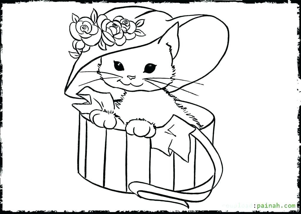1024x728 Coloring Pages Kittens Astonishing Coloring Pages Puppies