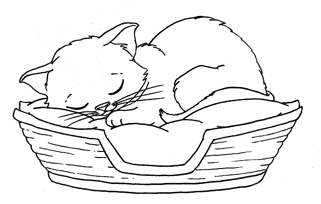 cute kitty coloring pages - photo#40