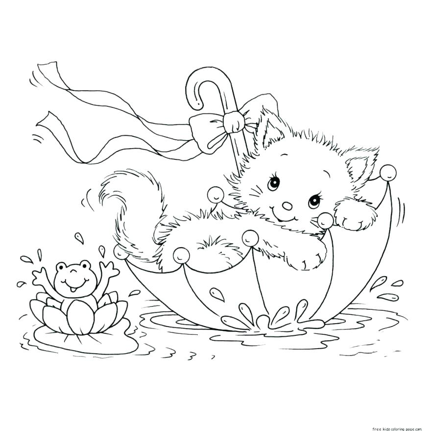 878x879 Kitten Color Pages Coloring Page Kitten Cute Kitten Coloring Pages