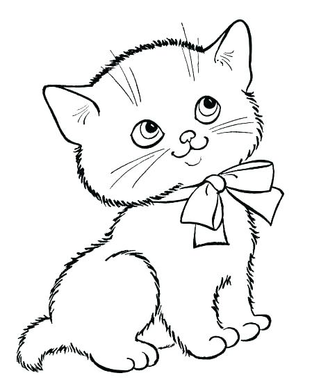 449x547 Kitten Color Pages Cute Kitten Coloring Pages Free Printable