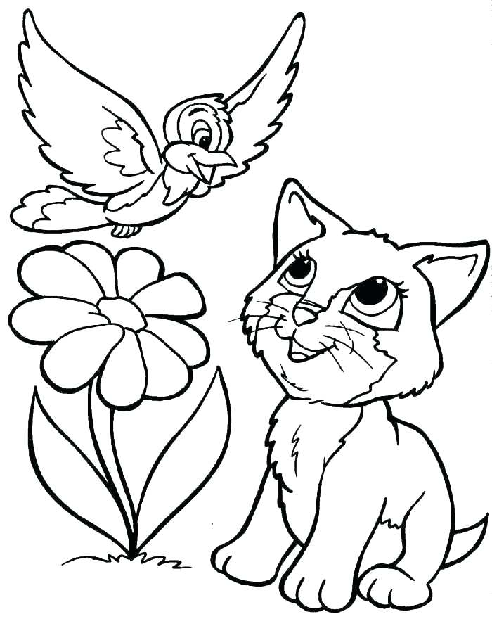 700x890 Kitten Coloring Pages Cute Kitten Coloring Pages Printable To Good