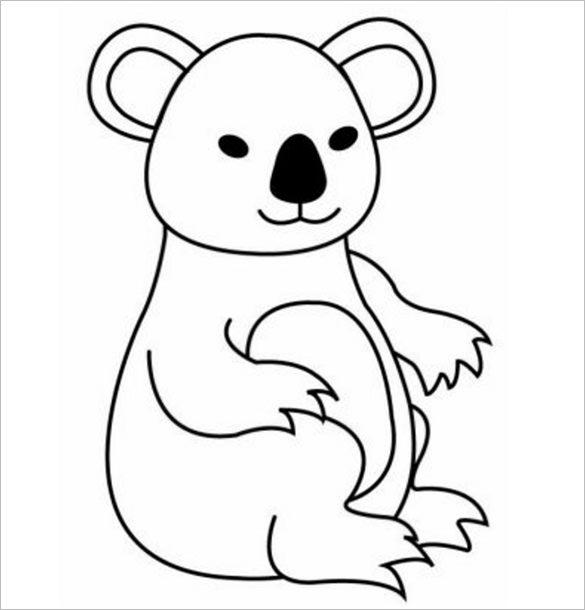 Cute Koala Bear Drawing at GetDrawings.com   Free for personal use ...