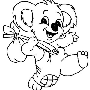300x300 Coloring Pages Koala Coloring Pages 33 Koala Coloring Pages