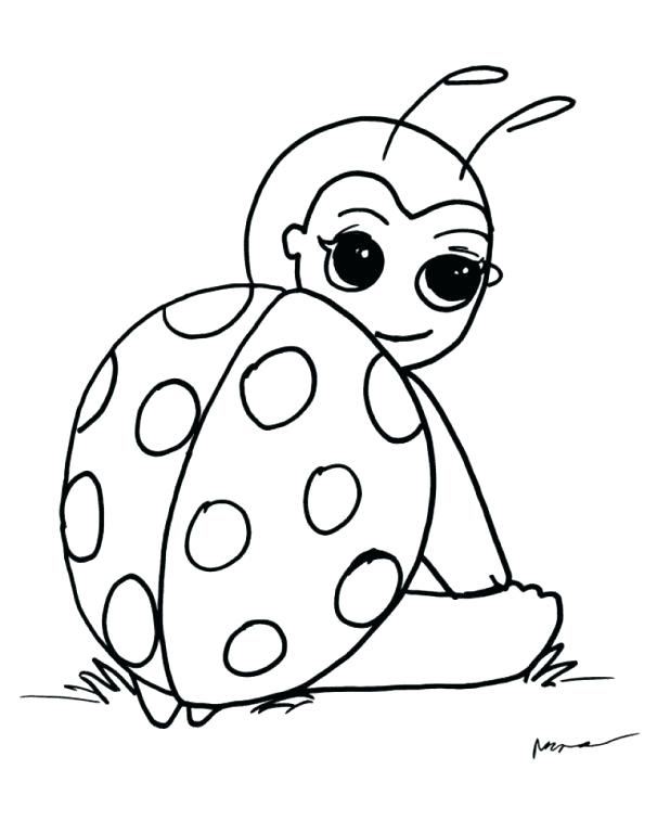 618x757 Cute Ladybug Coloring Pages Best Cute Ladybug Coloring Pages