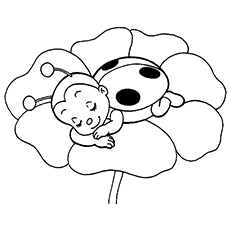 230x230 Cute Ladybug Coloring Pages Colouring For Cure Draw Image
