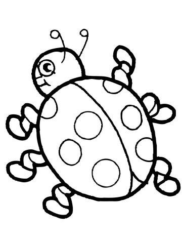 360x480 Cute Ladybug Coloring Page Free Printable Coloring Pages