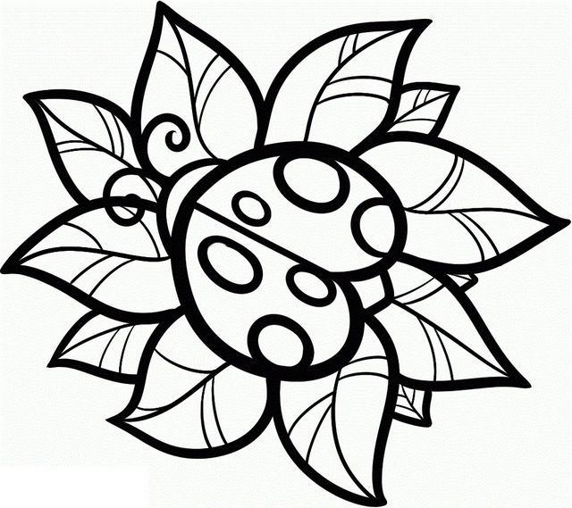 640x569 Cute Coloring Pages For Teenagers Free Printable Ladybug Coloring