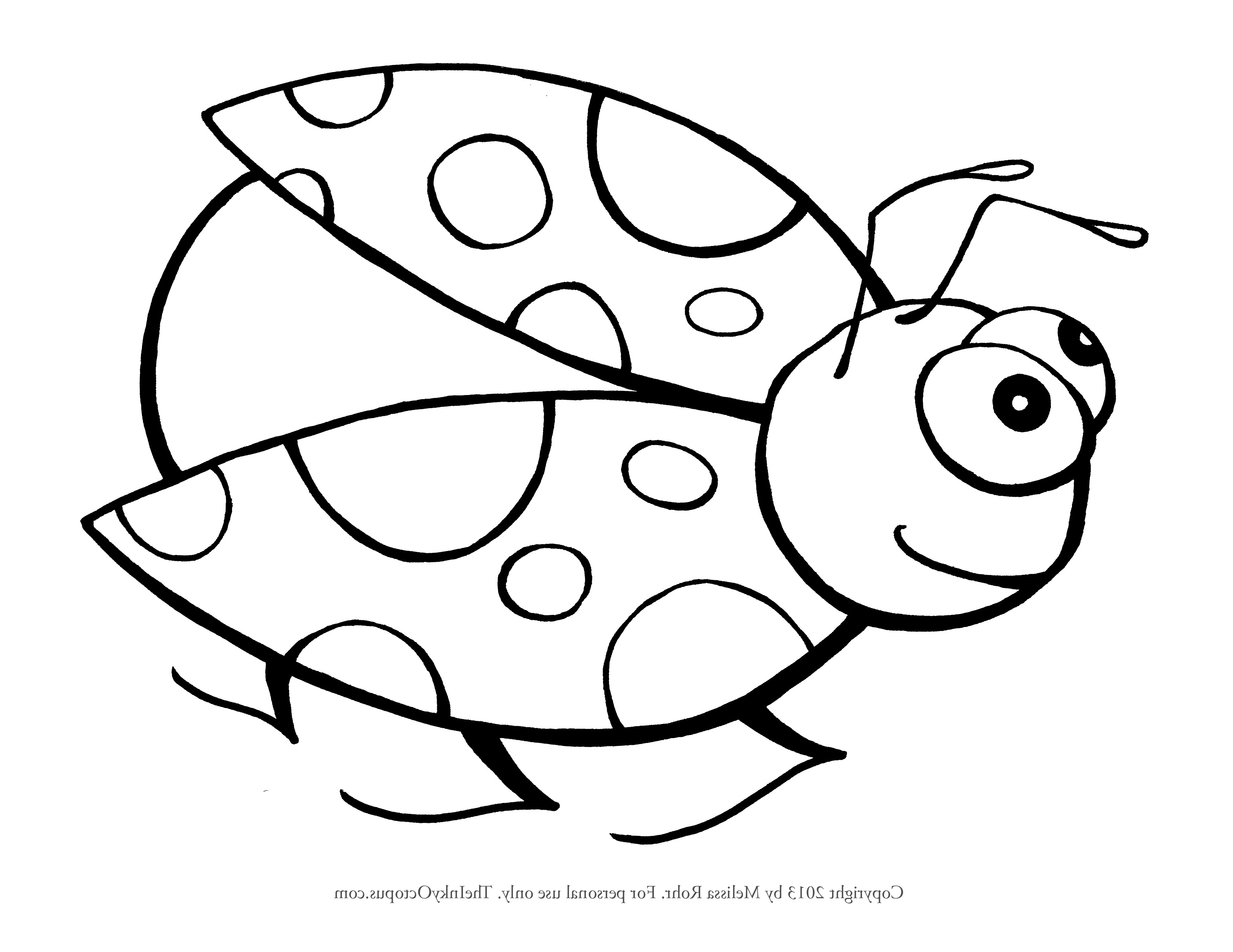 Cute Ladybug Drawing at GetDrawings.com | Free for personal use Cute ...