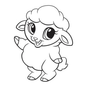 300x300 Newborn Lamb Coloring Pages