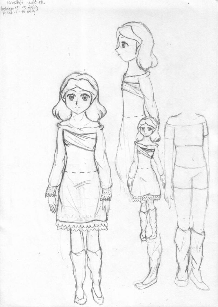 752x1061 Cute Little Girl By Sakura Chrno