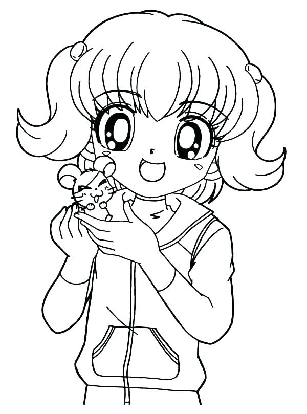600x809 Stunning Little Girl Coloring Pages Online Cute For Girls And Up