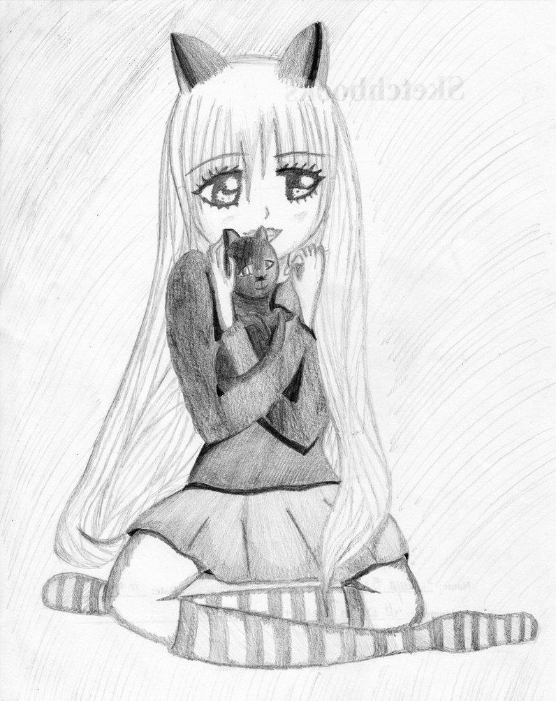 796x1004 Cute Cat Girl By Sketchart2