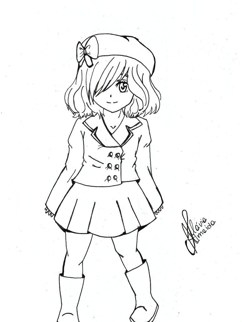 775x1031 Cute Manga Girl By Kooni Sama
