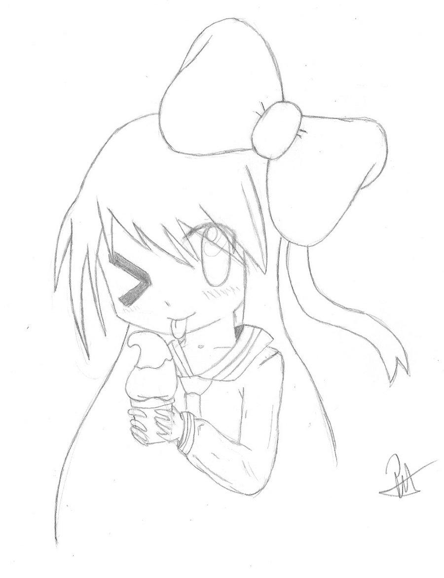 900x1171 Cute Manga Girl By Peter Blackleg