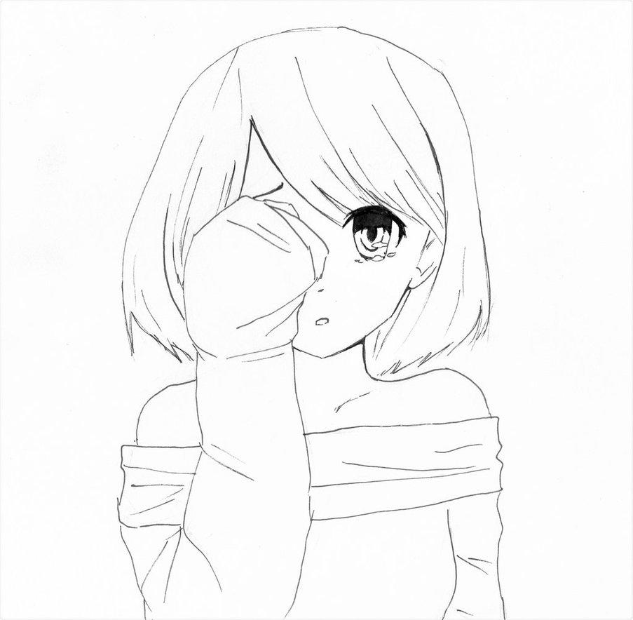 903x884 Shy Cute Manga Girl By Alkalightning