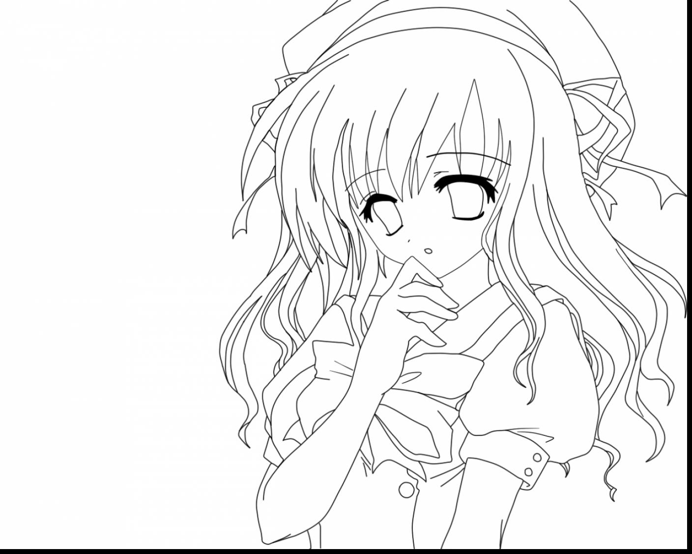 1408x1126 Anime Girl Coloring Pages