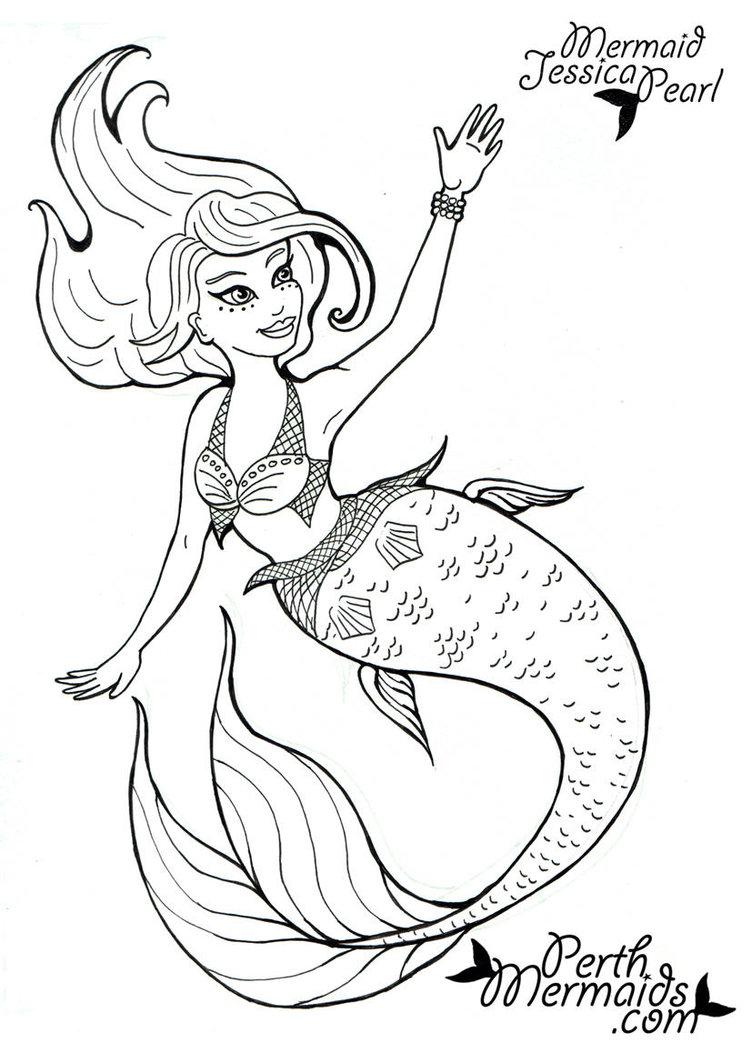 752x1063 Cartoon Mermaid Drawing How To Draw A Cute Mermaid In Easy Steps