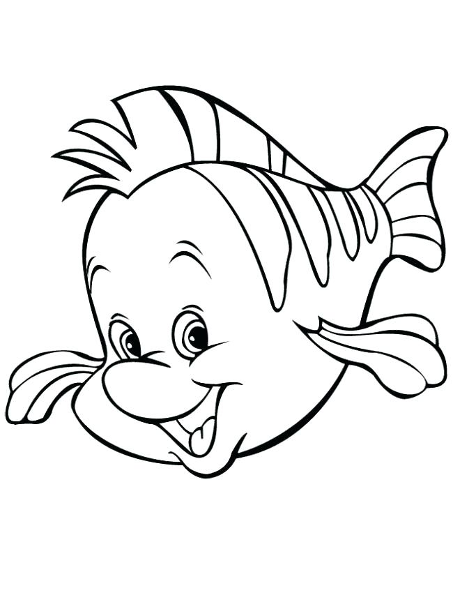 650x853 Cute Mermaid Coloring Pages