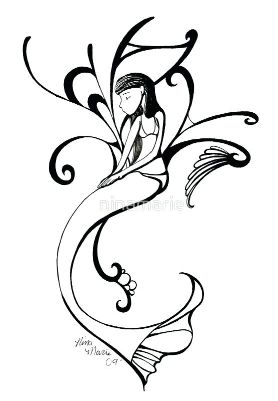 556x800 Mermaid Tail Clipart Mermaid Outline By Mermaid Tail Clipart Black