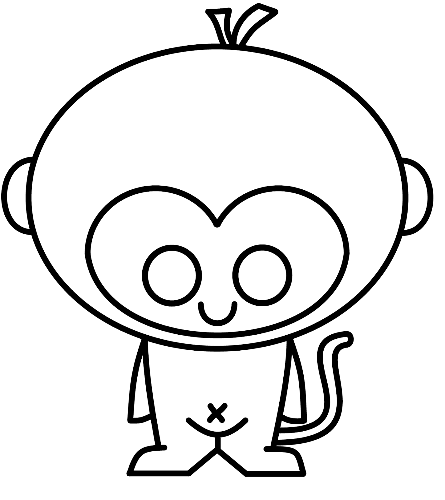 1426x1600 Cute Monkey Drawings Car Interior Design Monkey Images