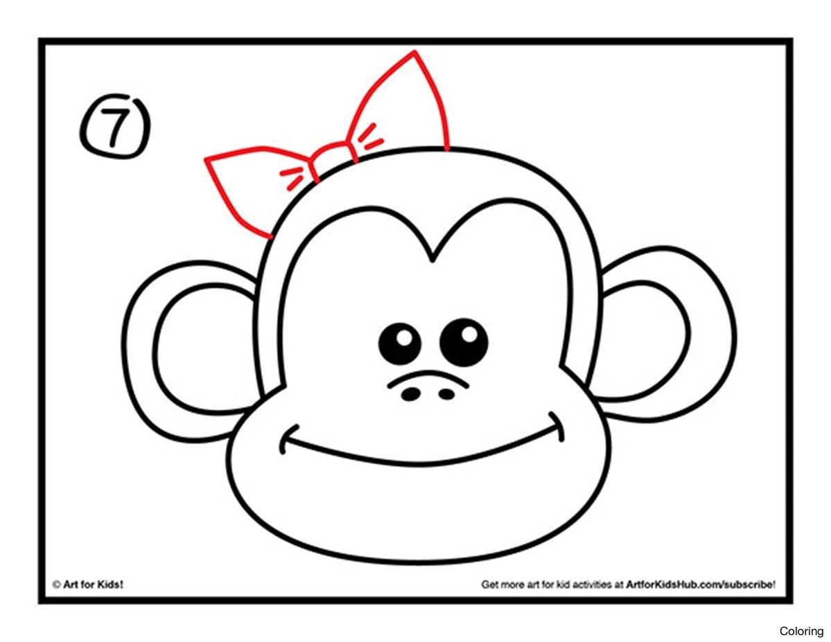 1199x927 Drawn Baby Animal Cute Monkey 11 Drawings Of Monkeys Coloring Pin