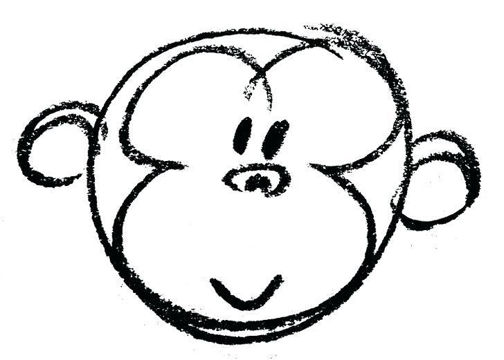 728x521 Monkey Face Coloring Page Night Monkey With Cute Face And Funny