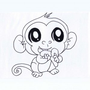 300x300 Adult Easy Monkey Drawing Easy Monkey Drawing For Kids. Easy