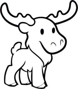263x300 Coloring Pages Coloring Pages Moose Coloring Pages Moose